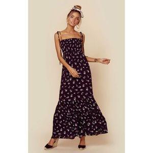 Blue Life Summer Breeze Dress Black Floral